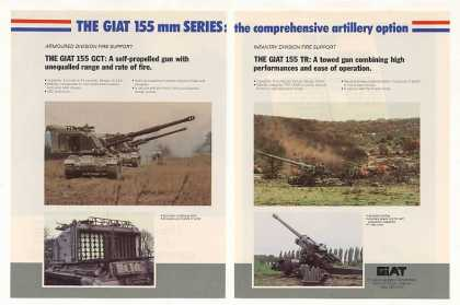 GIAT 155 GCT Self-Propelled Gun TR Towed Gun 2P (1987)