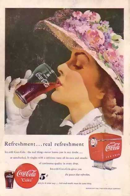 Coke Real Refreshment (1949)