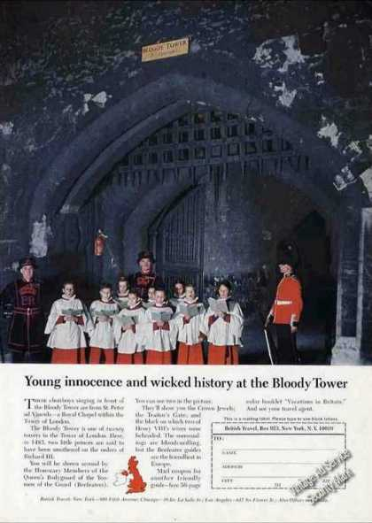 """Bloody Tower"" Tower of London Britain Travel (1966)"