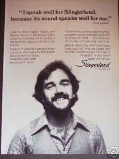 Peter Erskine Weather Report Slingerland Drums (1979)