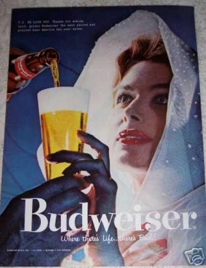 Budweiser Beer Woman Pilsner Glass (1957)