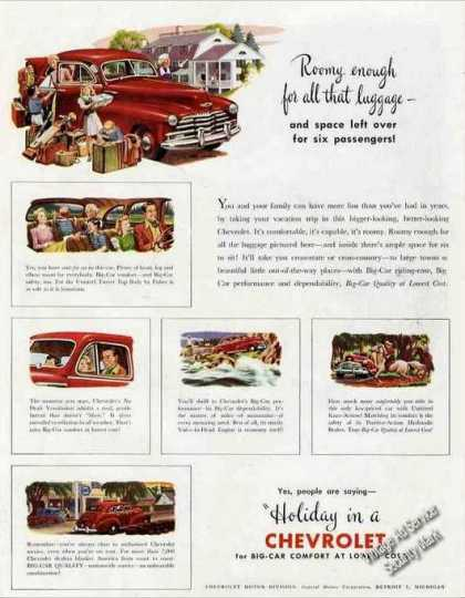"""Holiday In a Chevrolet"" Collectible (1947)"