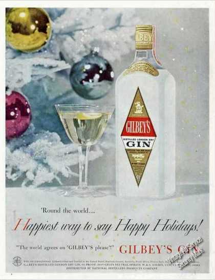 "Gilbey's Gin ""Happiest Holidays"" (1957)"