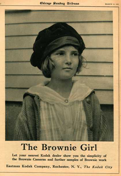 Kodak's Brownie cameras – The Brownie Girl (1921)