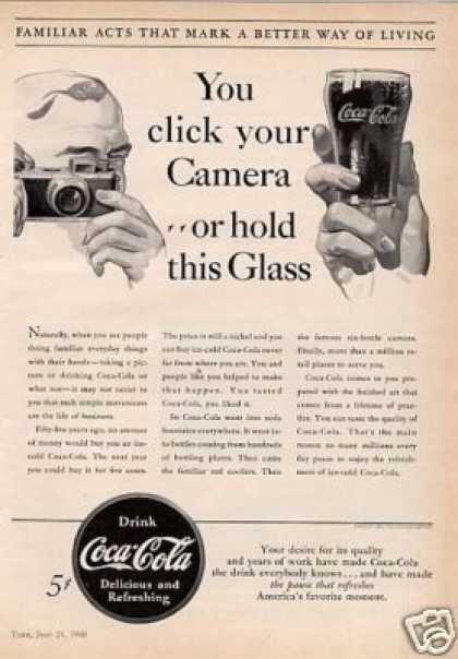 "Coca-cola Ad ""You Click Your Camera... (1940)"