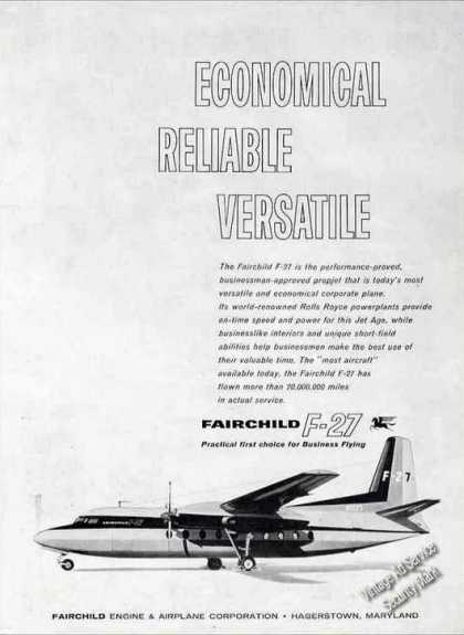 Fairchild F-27 for Business Flying (1960)