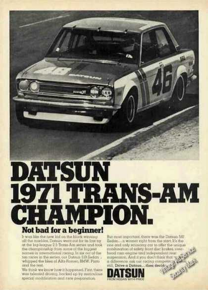 Datsun Trans-am Champion Photo (1971)