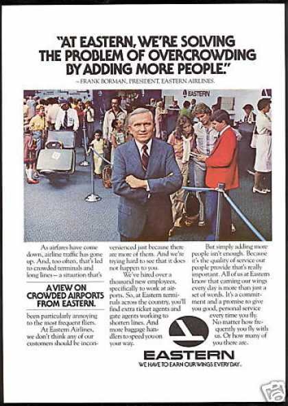 Eastern Airlines Frank Borman Overcrowding (1979)