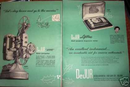 Original Dejur 8mm Projector Camera Meter (1947)