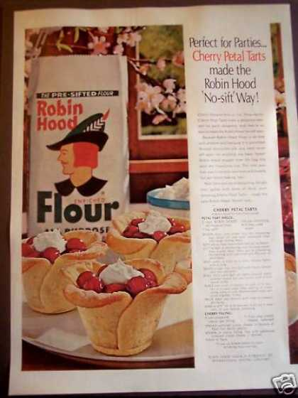 Robin Hood Flour Recipe for Cherry Petal Tarts (1962)