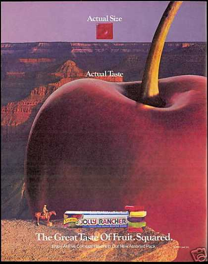 Grand Canyon Horse Apple Jolly Rancher Candy (1991)