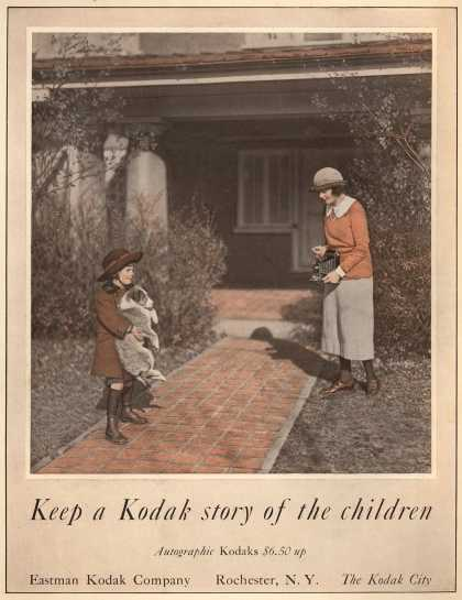 Kodak's Autographic cameras – Keep a Kodak Story of the Children (1922)