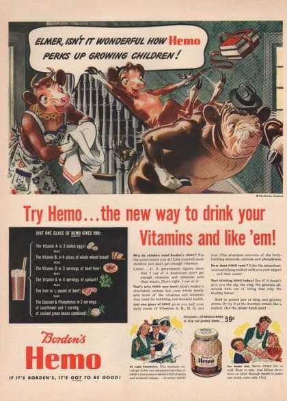Bordens Hemo Drink With Vitamins (1942)
