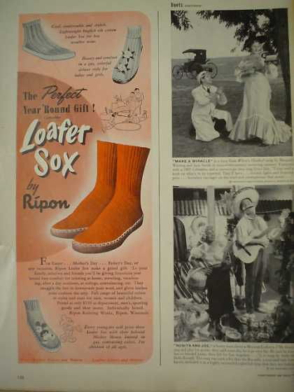 Loafer Socks Sox by Ripon Mickey Mouse (1949)