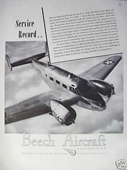 Beech Aircraft Military Airplane (1944)
