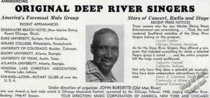 Original Deep River Singers Trade (1946)