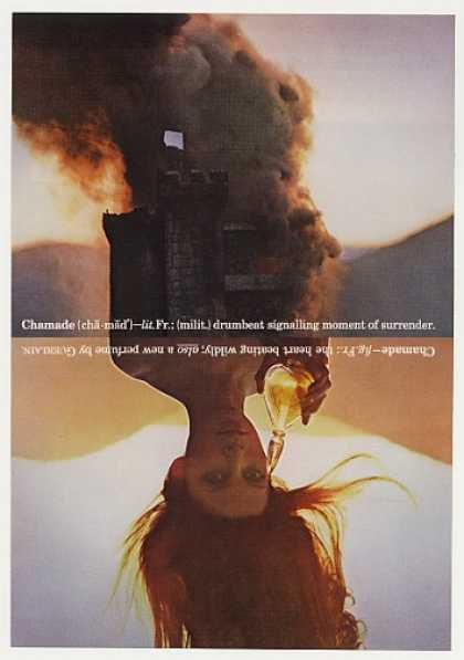 Guerlain Chamade Perfume Surrender Castle Photo (1971)