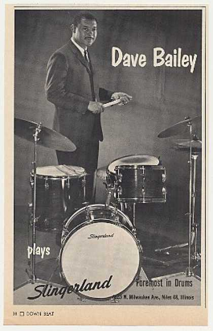 Dave Bailey Slingerland Drums Photo (1968)