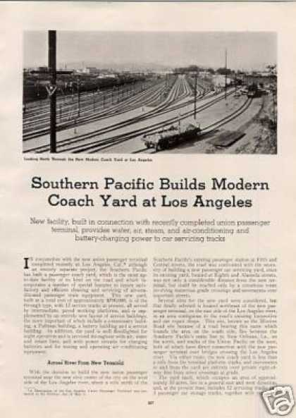"""Sp Builds Modern Coach Yard at Los Angeles"" (1939)"