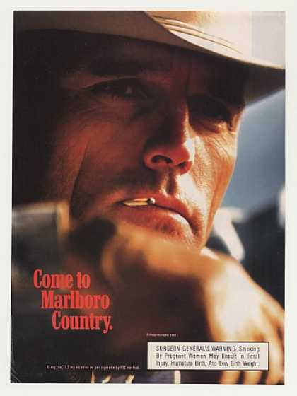 '93 Come to Marlboro Country Man Chewing Match Photo (1993)