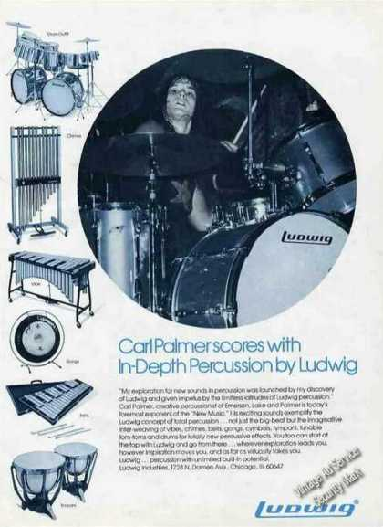 Carl Palmer Photo Ludwig Drums (1974)