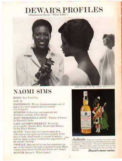 Dewar's White Label Scotch Whisky – Naomi Sims (1975)