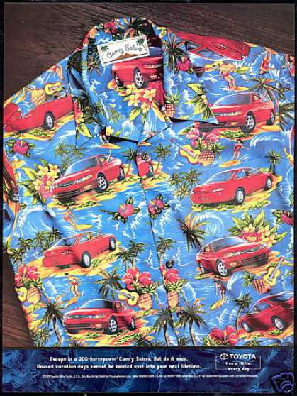 Toyota Camry Solara Car Cool Shirt Photo (2000)