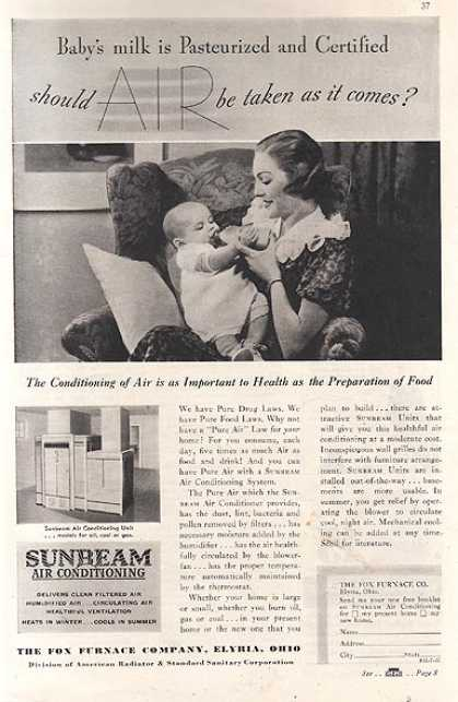 Sunbeam's Air Conditioning Unit (1937)