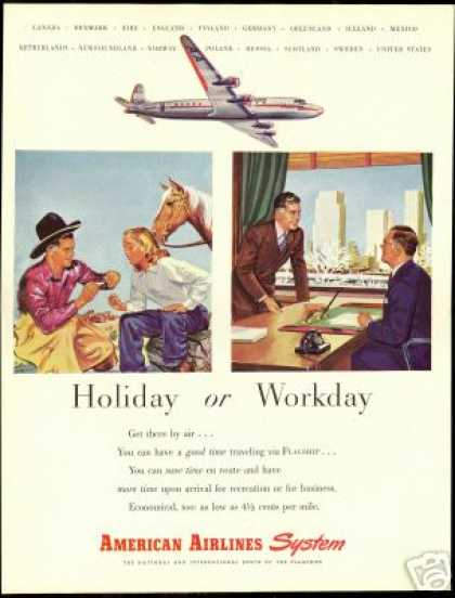 American Airlines Airplane Holiday Workday (1946)