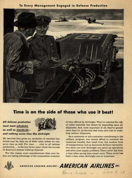 American Airline's AirFreight – Time is on the side of those who use it best (1951)