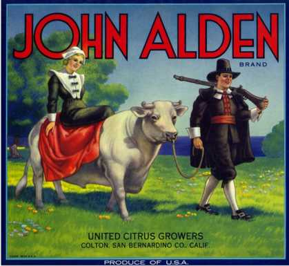 Colton, California, John Alden Brand Citrus Label