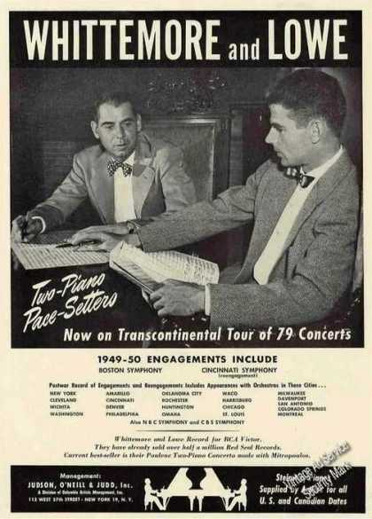 Whittemore & Lowe Photo Two-piano Pace-setters (1949)