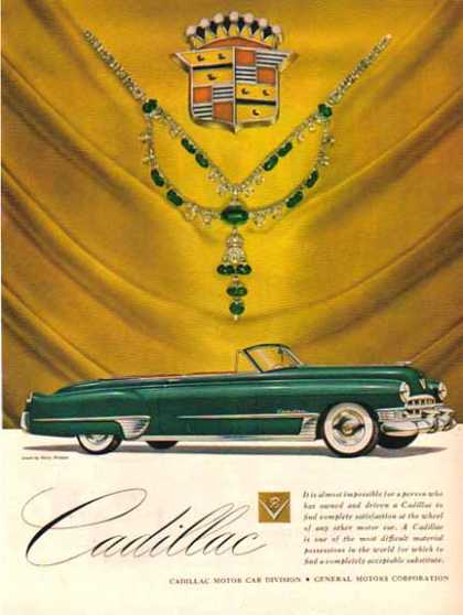 Cadillac Car – Convertible Green with Jewels – Sold (1949)
