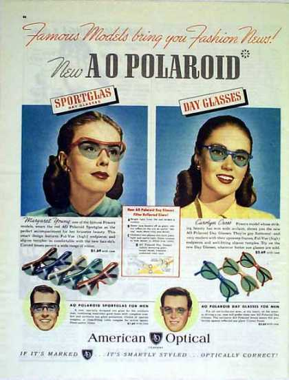 American Optical – The New A O POLAROID (1947)