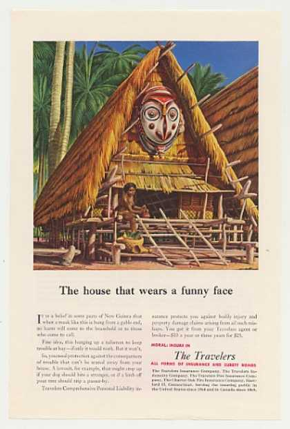 New Guinea Gable Mask The Travelers Insurance (1951)