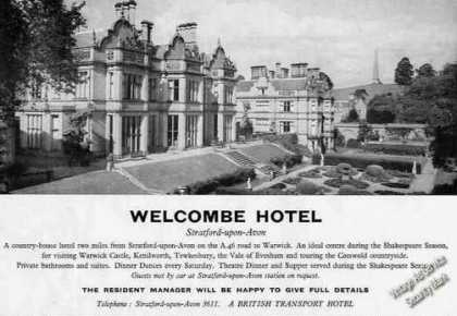 Welcombe Hotel Stratford-upon- (1960)