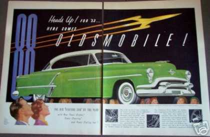 Big Green Oldsmobile 88 for 53 2pg Art (1953)