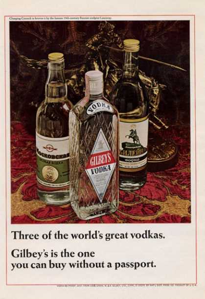 Gilbey's Vodka Bottles (1965)
