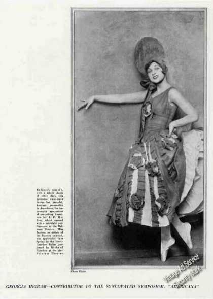 Georgia Ingram Photo Antique Theatre Trade Feature (1926)