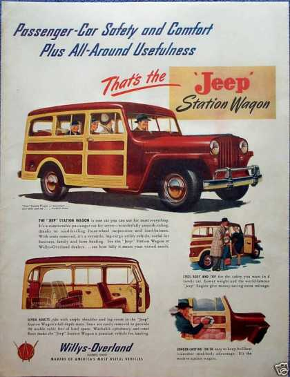 Willys Jeep Station Wagon Passenger Car All Around (1947)