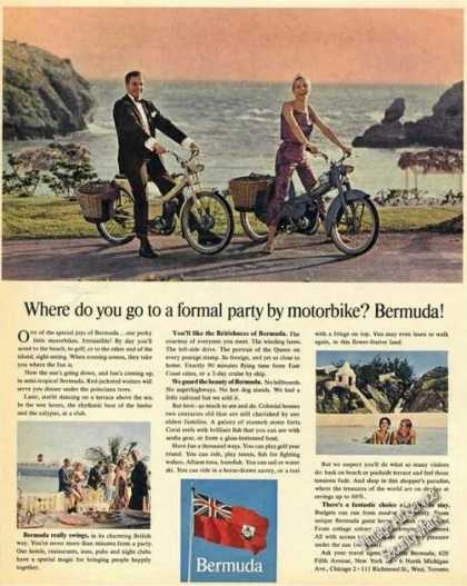 Formal Party By Motorbike Bermuda Travel Promo (1965)