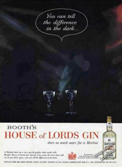 "Booth's House of Lords Gin ""In the Dark"" (1959)"