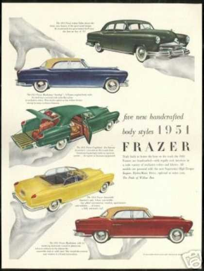 Frazer 4dr Sedan Manhattan Vagabond Convertible (1951)