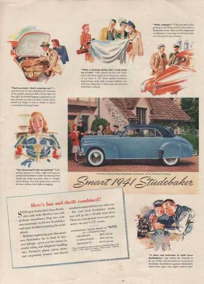 Smart Blue Studebaker Car (1941)