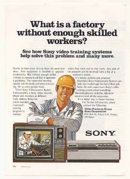 Sony Videocassette Factory Worker Training Sys (1979)