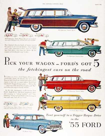 Ford Station Wagon Line (1955)