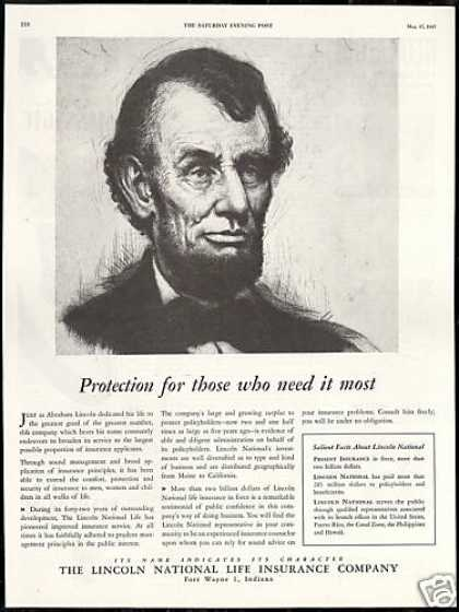 Abraham Lincoln National Life Insurance (1947)