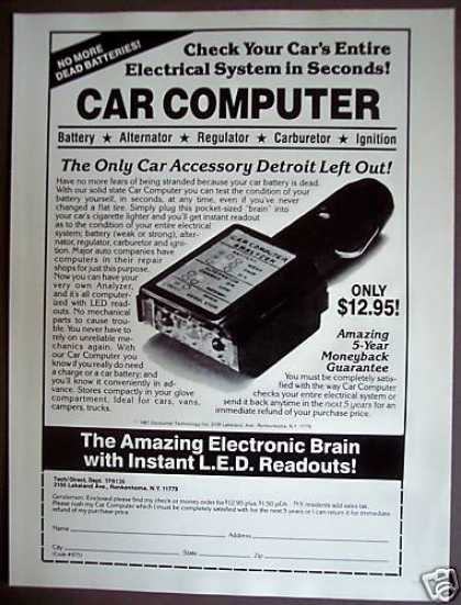 Car Computer Pocket-sized Analyzer (1981)