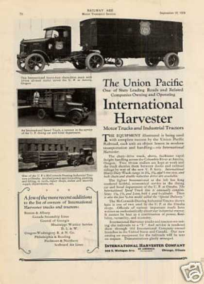 International Truck Ad Union Pacific (1928)