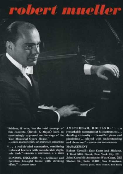 Robert Mueller Pianist (1961)